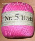 Klik her for at se flere billeder og få mere information om varen:Hæklegarn - nr. 5 - 0707 Rosa/Pink - 100g