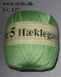 Klik her for at se flere billeder og få mere information om varen:0137 - Hæklegarn - Vår Grøn 100g 1ng.