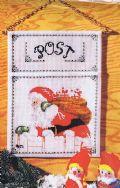 Klik her for at se flere billeder og få mere information om varen:Oe 11144 Broderipk: Julepost, Julemand på vej - 26x35cm