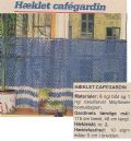 Klik her for at se flere billeder og få mere information om varen:Hv 17-84-33 Mønster: Hæklet Cafegardin 48x115cm *org*