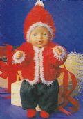 Klik her for at se flere billeder og få mere information om varen:Fj 46-98-06 Mønster: Nissejakke til Baby born og Baby *org*